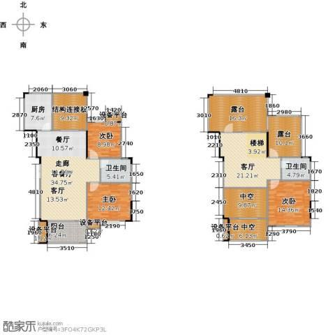 远大生态风景3室2厅2卫1厨230.00㎡户型图