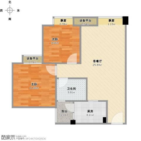 欣光松宿2室1厅1卫1厨79.00㎡户型图