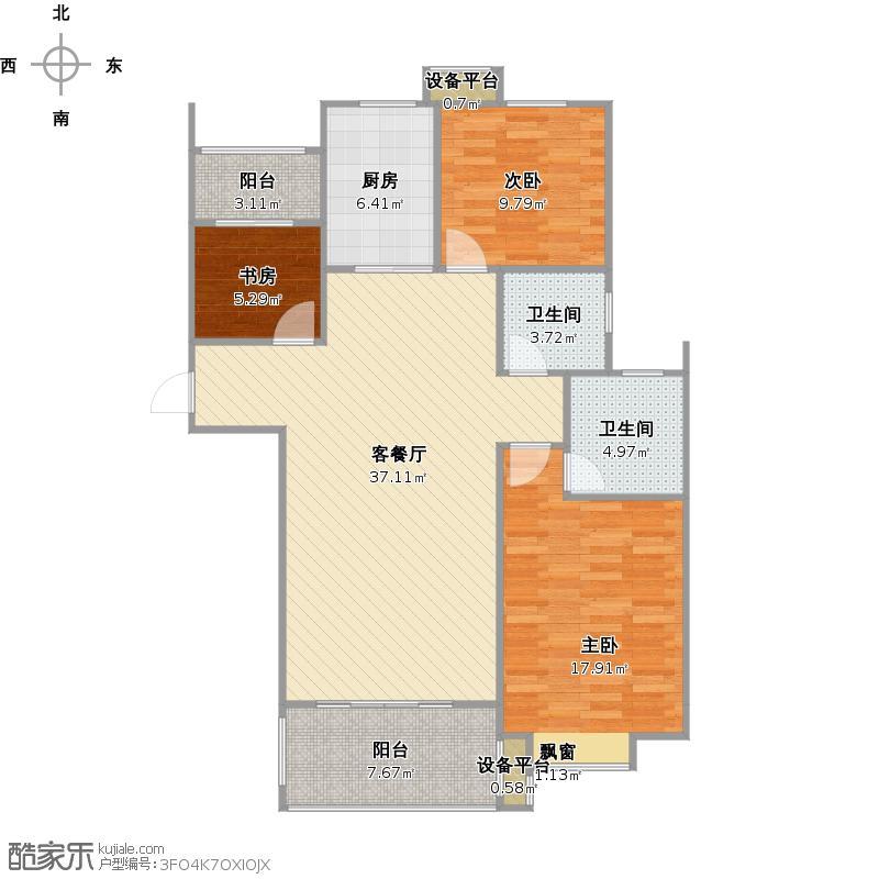 香江丽景C3改后户型图