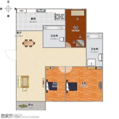 佳安别院3室1厅2卫1厨334.00㎡户型图