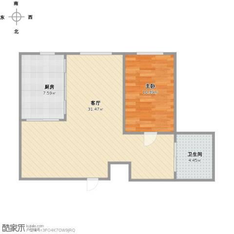 金澜名邸1室1厅1卫1厨72.00㎡户型图