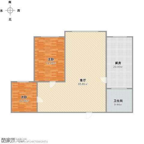 金澜名邸2室1厅1卫1厨169.00㎡户型图