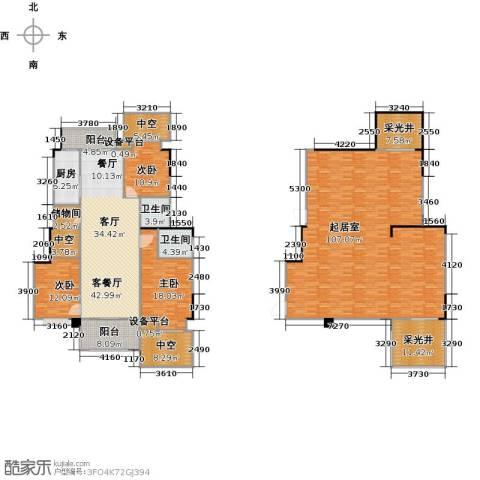 远大生态风景3室1厅2卫1厨342.00㎡户型图