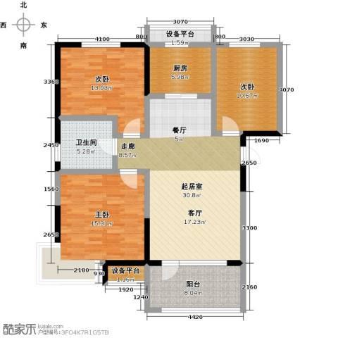碧桂园欧洲城3室0厅1卫1厨106.00㎡户型图