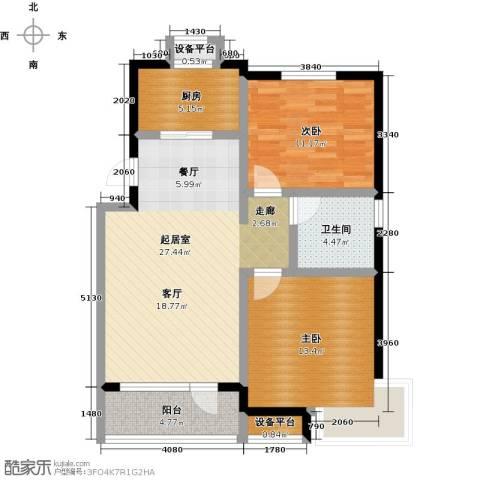 碧桂园欧洲城2室0厅1卫1厨78.00㎡户型图