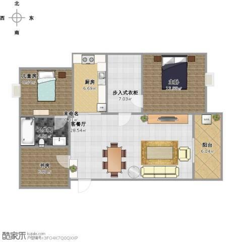 旭辉・御府3室1厅1卫1厨110.00㎡户型图