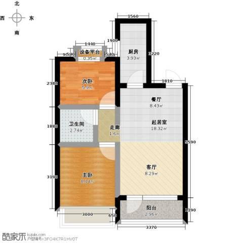 碧桂园欧洲城2室0厅1卫1厨91.00㎡户型图