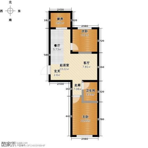 陵西雅居2室0厅1卫1厨68.00㎡户型图