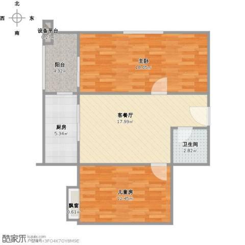 二十六街坊2室1厅1卫1厨84.00㎡户型图