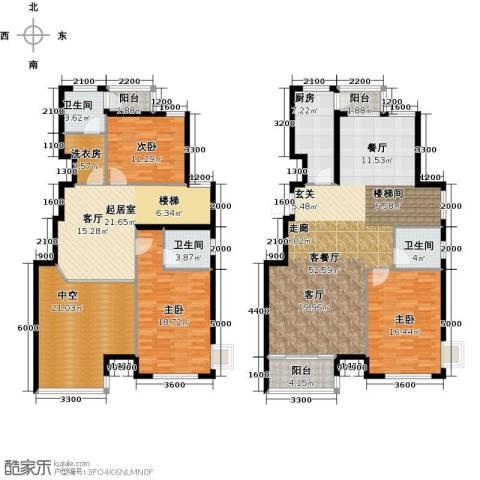 水岸天华3室1厅3卫1厨206.00㎡户型图