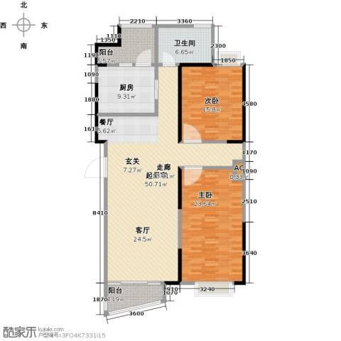 蚌埠百乐门2室0厅1卫1厨129.00㎡户型图