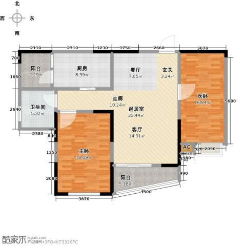 蚌埠百乐门2室0厅1卫1厨106.00㎡户型图