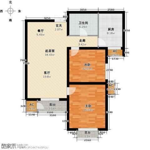 君悦府2室0厅1卫1厨96.00㎡户型图
