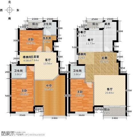 水岸天华3室1厅3卫1厨197.00㎡户型图
