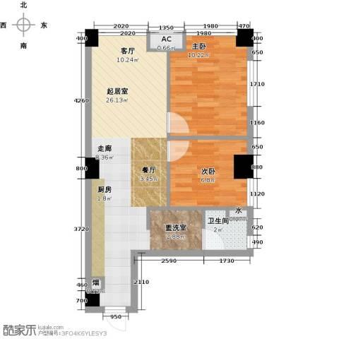 东港林苑2室0厅1卫0厨67.00㎡户型图
