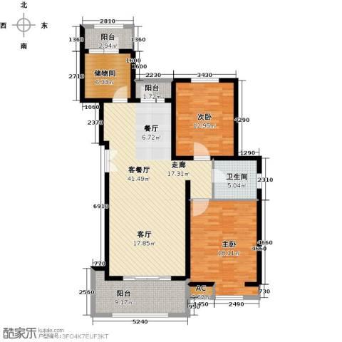 首开国风润城2室1厅1卫0厨112.00㎡户型图