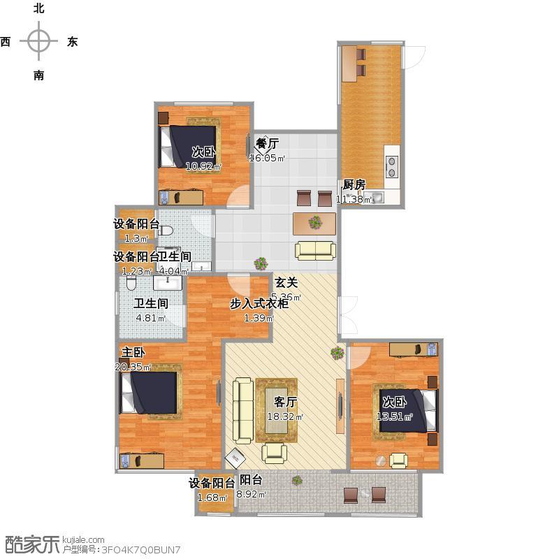 君朗142三室两厅