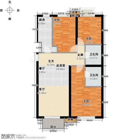 首地・浣溪谷3室0厅2卫1厨115.00㎡户型图
