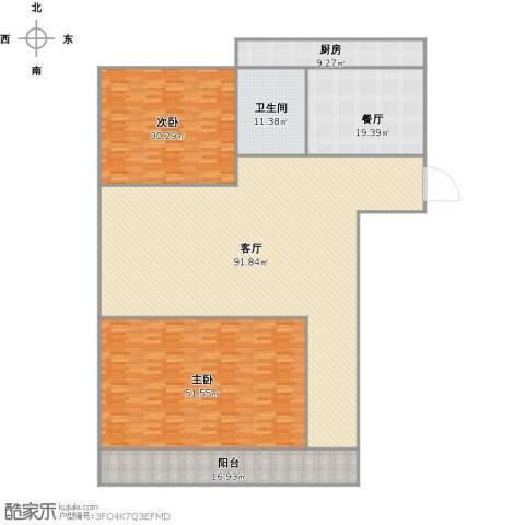 北全福小区2室2厅1卫1厨302.00㎡户型图