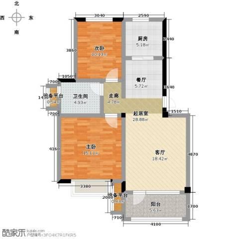 碧桂园欧洲城2室0厅1卫1厨83.00㎡户型图