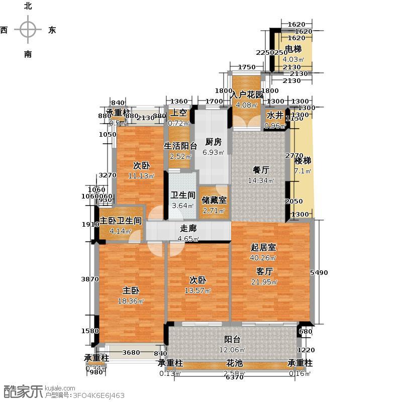 路劲隽悦豪庭E区25、28栋02单位户型3室1卫1厨