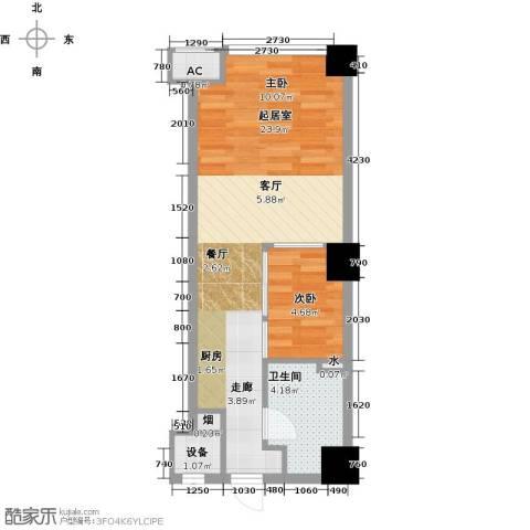 东港林苑1室0厅1卫0厨51.00㎡户型图