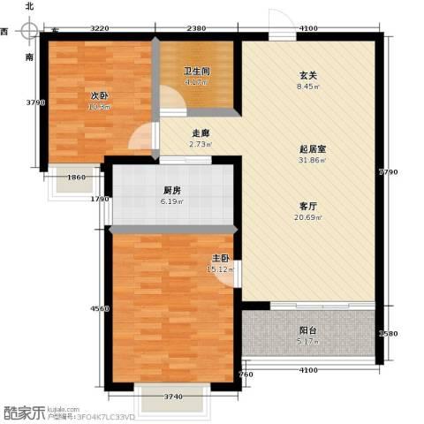 衡水水榭花都2室0厅1卫1厨83.00㎡户型图