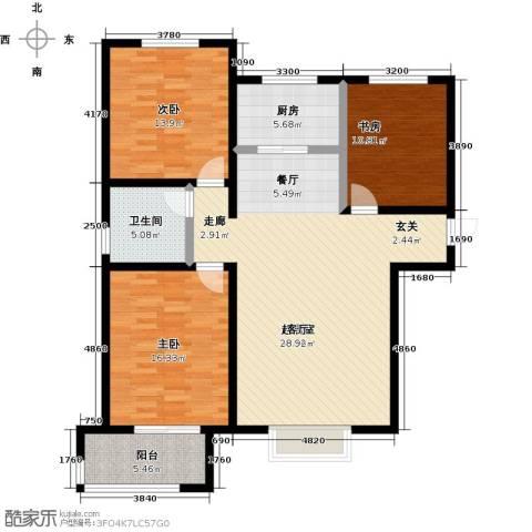衡水水榭花都3室0厅1卫1厨110.00㎡户型图