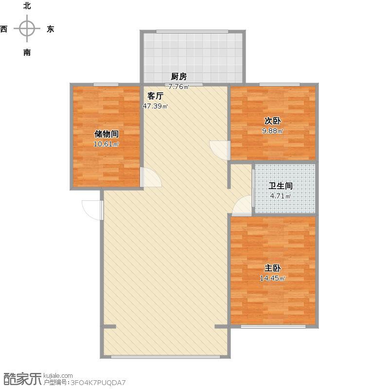 120平2室2厅