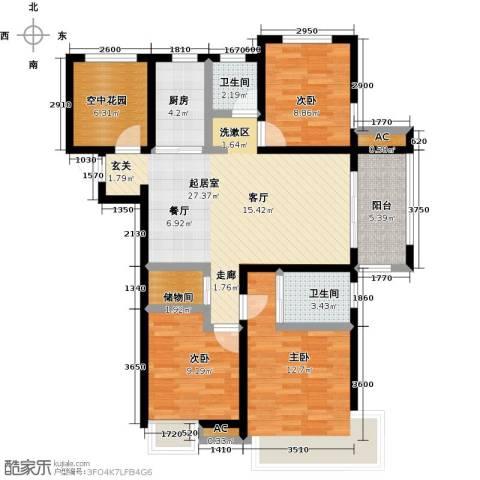 海亮九玺【锦上】3室0厅2卫1厨110.00㎡户型图