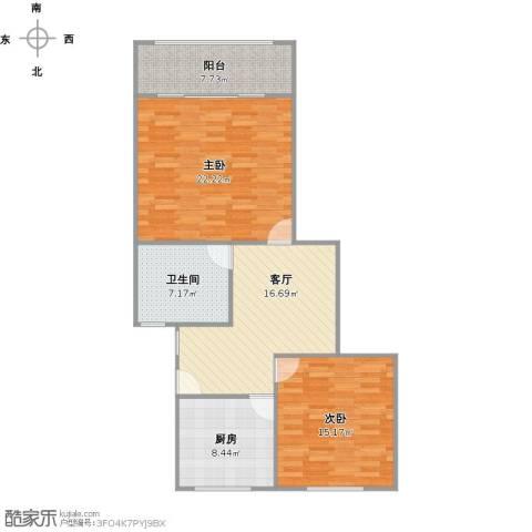 共康五村2室1厅1卫1厨104.00㎡户型图
