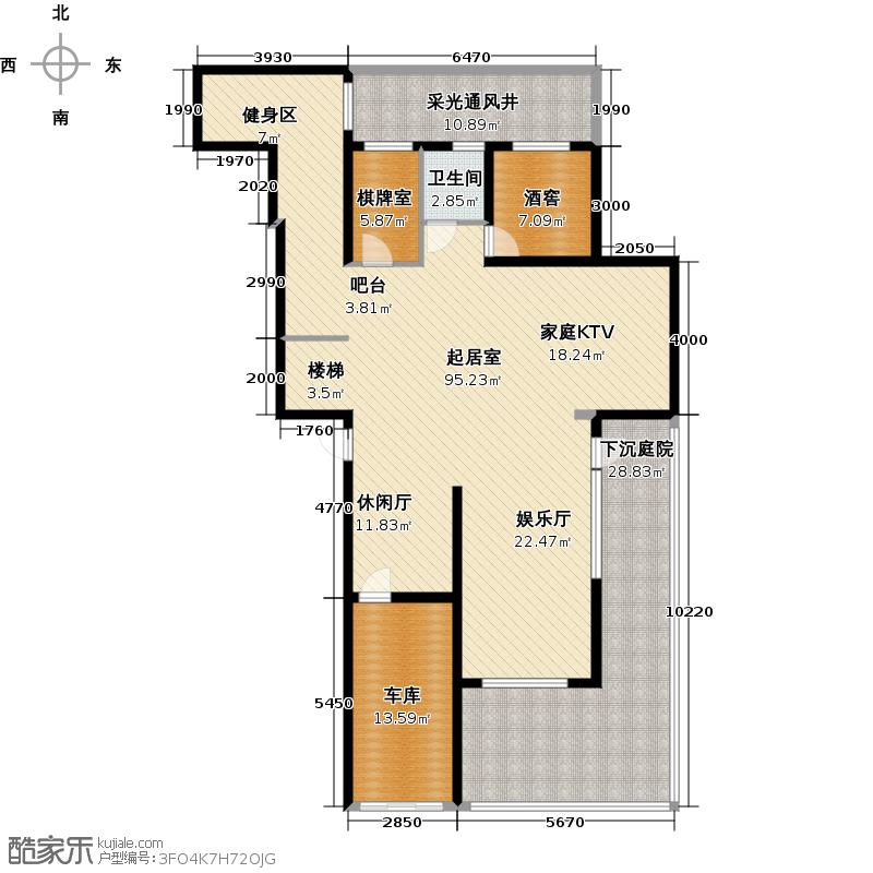 金象泰十里洋房F\'首层复式户型4室2厅1卫