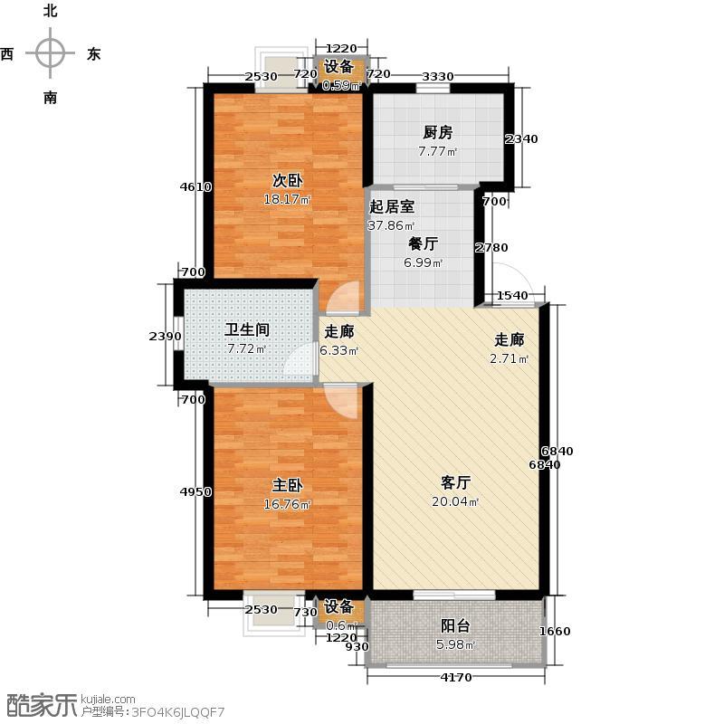 泗阳锦绣江南户型2室1卫1厨