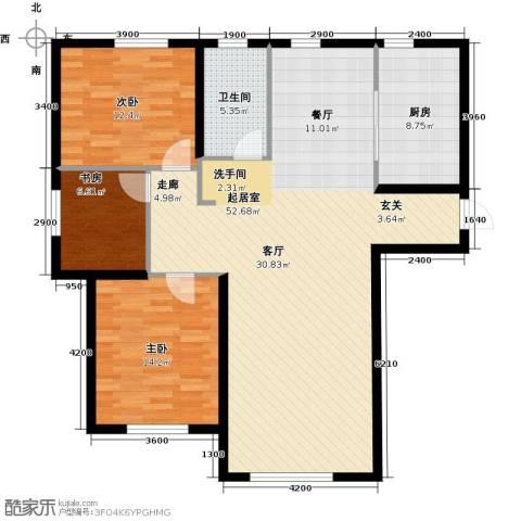 易和熙园3室0厅1卫1厨133.00㎡户型图