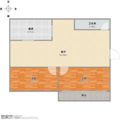 鑫泉花园2室1厅1卫1厨124.22㎡户型图