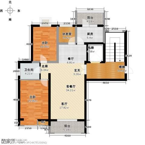 首开国风润城2室1厅1卫1厨119.00㎡户型图
