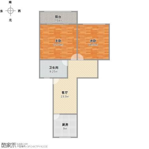 共康五村2室1厅1卫1厨119.00㎡户型图