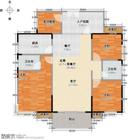 联运怡景苑3室1厅2卫1厨127.00㎡户型图