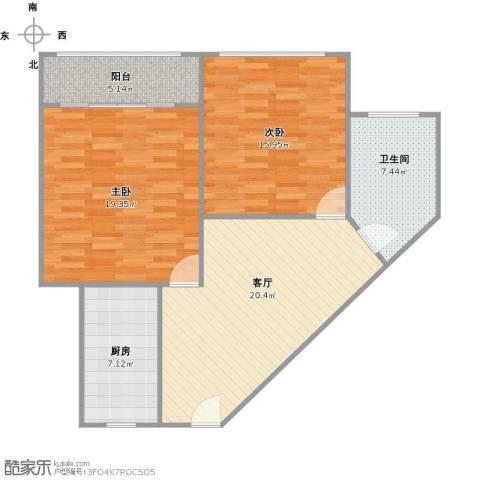梅陇五村2室1厅1卫1厨101.00㎡户型图
