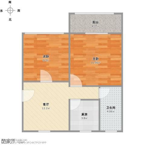 丰庄十四街坊2室1厅1卫1厨59.00㎡户型图