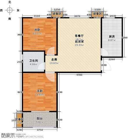 德州熙凤居2室0厅1卫1厨106.00㎡户型图