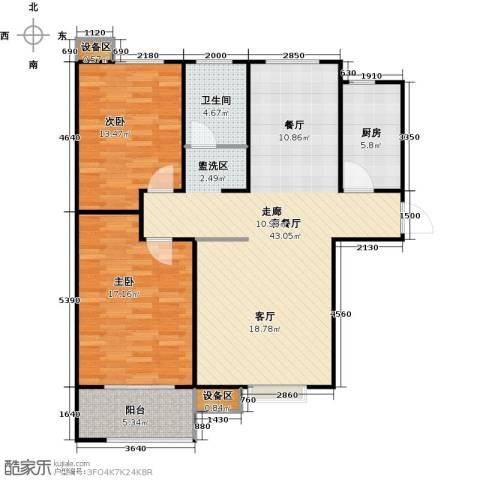 德州熙凤居2室1厅1卫1厨122.00㎡户型图