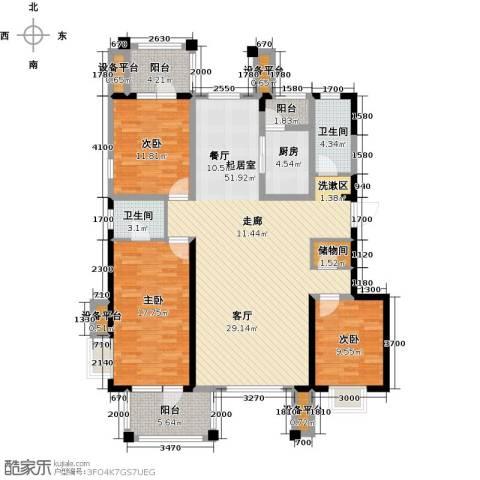 阳光新业国际3室0厅2卫1厨142.00㎡户型图