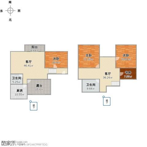 明日新苑4室2厅2卫1厨257.00㎡户型图