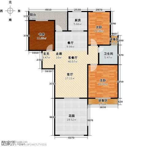 枫丹翡翠公馆3室1厅1卫1厨159.00㎡户型图