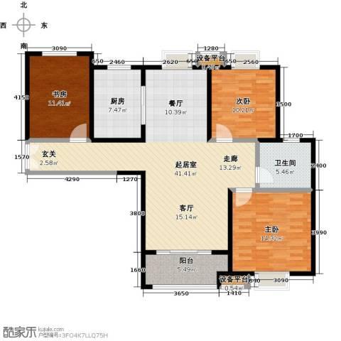 实地・玫瑰庄园3室0厅1卫1厨109.00㎡户型图