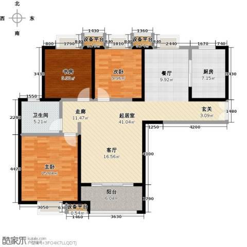 实地・玫瑰庄园3室0厅1卫1厨110.00㎡户型图
