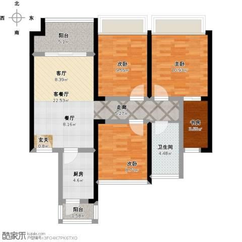 中梁v城市4室1厅1卫1厨105.00㎡户型图