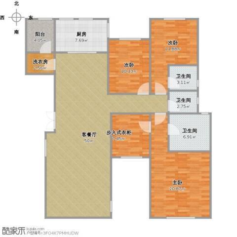 远洋天著3室1厅3卫1厨171.00㎡户型图