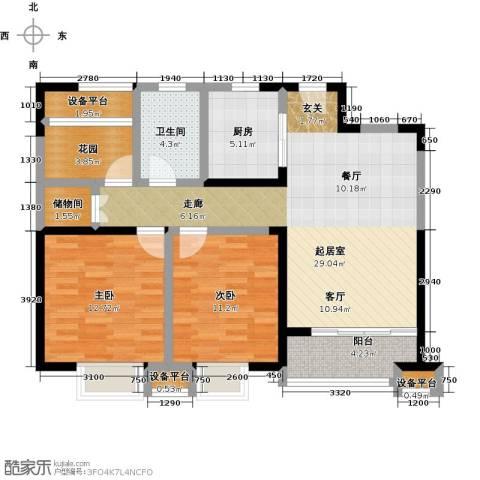 铜冠花园2室0厅1卫1厨111.00㎡户型图